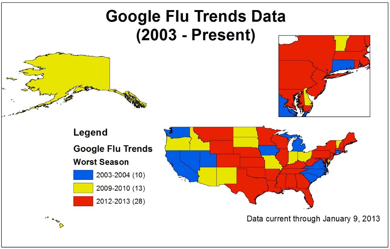 谷歌流感趋势