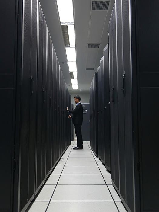 中国林业大数据中心机房一角