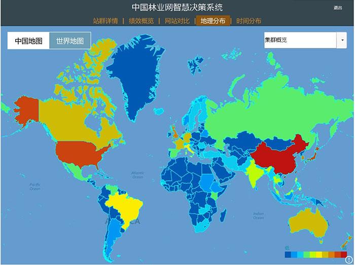 中国林业网智慧决策系统地理分布板块