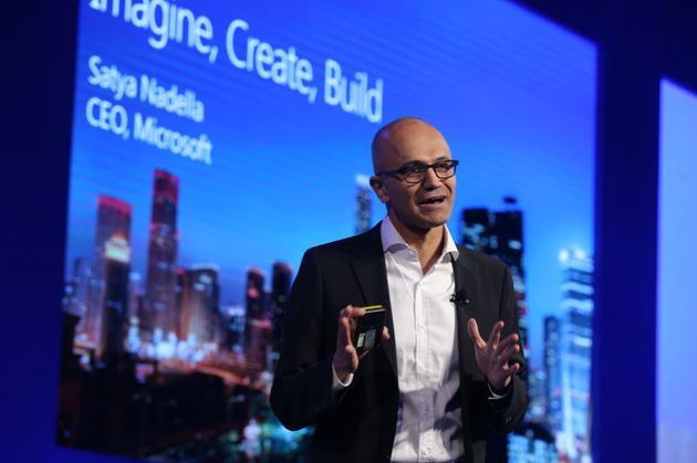 微软公司首席执行官萨提亚·纳徳拉来华首站出现在了2016年微软开发者峰会